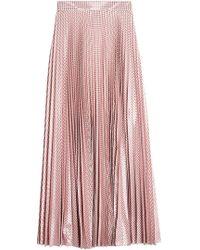 Christopher Kane   Metallic Pleated Gingham Skirt   Lyst