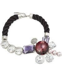 Marc Jacobs - Rhinestone Cluster Bracelet - Lyst