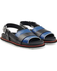 Jil Sander - Colorblock Leather Sandals With Buckled Back Strap - Multicolour - Lyst