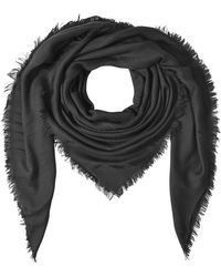 The Kooples - Fringed Scarf - Black - Lyst