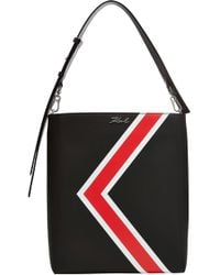Karl Lagerfeld - K/stripes Leather Hobo - Lyst