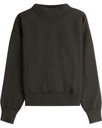 Étoile Isabel Marant - Cotton Sweatshirt With High Neck - Green - Lyst