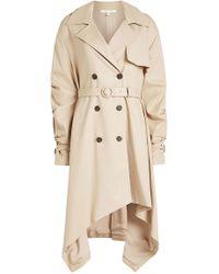 Jonathan Simkhai - Cotton Trench Coat With Asymmetric Hem - Lyst