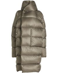 Rick Owens - Quilted Coat With Hood - Lyst