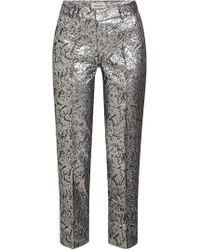 Zadig & Voltaire - Geprägte Pants Posh Jac Metal mit Baumwolle und Metallic-Beschichtung - Lyst