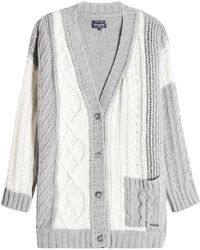 Woolrich - Cardigan With Wool, Cashmere And Angora - Lyst