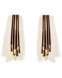 Aesa - Brass Wind Wake Earrings - Lyst