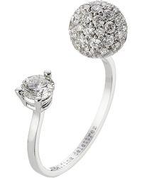 Delfina Delettrez - 18kt White Gold Sphere Ring With White Diamonds - Lyst