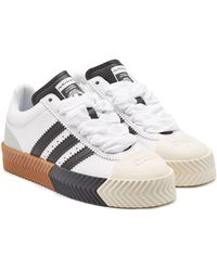 huge discount be750 4eb3b Alexander Wang - Aw Skate Super Leather Sneakers - Lyst