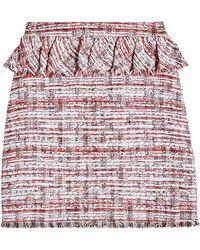 Karl Lagerfeld - Peplum Boucle Skirt - Lyst