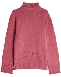 Brock Collection - High-low Cashmere Pullover With Turtleneck - Lyst