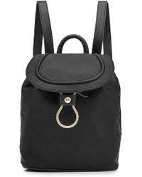 Diane von Furstenberg - Satin Backpack With Leather - Lyst