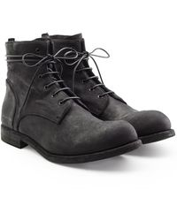 Officine Creative - Suede Lace-up Boots - Lyst