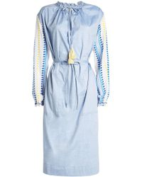 lemlem - Shirt Dress With Cotton - Lyst