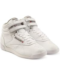 Reebok - Freestyle Hi Leather Trainers - Lyst