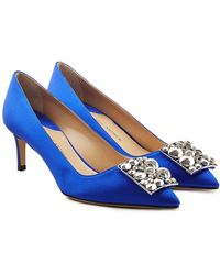 Paul Andrew - Otto Embellished Satin Court Shoes - Lyst