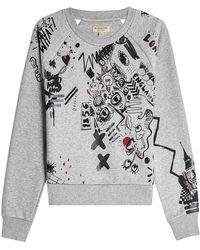 Burberry - Gavarresa Doodle Cotton Sweatshirt - Lyst