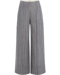 By Malene Birger - Pinstriped Culottes With Linen - Lyst