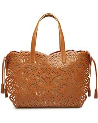 Sophia Webster - Liara Leather And Canvas Tote - Lyst