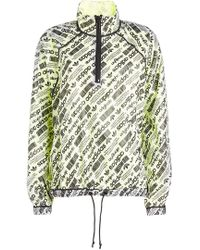 Alexander Wang - Printed Parka With Mesh - Lyst