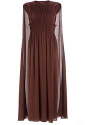 Valentino | Pleated Silk Dress | Lyst