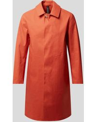 Mackintosh Mantel mit Gehschlitz - Rot