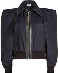 Nina Ricci - Bomber Jacket With Sculptural Shoulders - Lyst