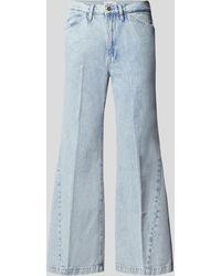 FRAME Flared Leg High Waist Jeans - Blau