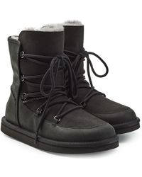 UGG - Shearling-lined Boots With Lace-up Front - Lyst