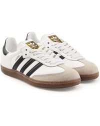 adidas Originals - Samba Suede And Leather Sneakers - Lyst