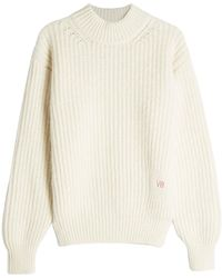 Victoria Beckham - Pullover With Elbow Patches - Lyst