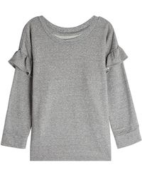 Current/Elliott - Sweatshirt With Ruffled Trims - Lyst