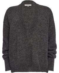 Tibi - V-Neck-Pullover aus Alpakawolle - Lyst