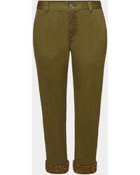 Current/Elliott - Cropped Pants aus Baumwolle - Lyst