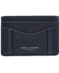 Lyst marc jacobs gotham leather card case in blue marc jacobs leather card holder lyst colourmoves