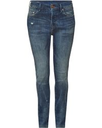 True Religion - Distressed Relaxed Skinny Leg Jeans Rocco - Lyst