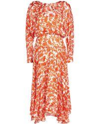 Preen By Thornton Bregazzi - Norma Printed Chiffon Dress - Lyst
