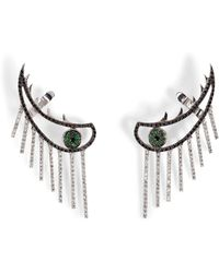 Ileana Makri - 18k Gold Weeping Eye Earring With Diamonds And Tsavorites - Lyst
