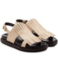 Marni - Fussbett Leather Sandals - Lyst
