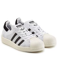 adidas Originals - Superstar Boost Prime Knit Sneakers - Lyst