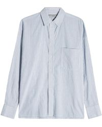 Vince - Striped Cotton Shirt - Lyst