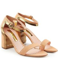 Rupert Sanderson - Leather And Suede Sandals - Lyst