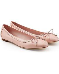 Ferragamo - Leather Ballerinas - Lyst