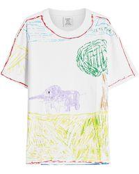 Vetements - Elephant River Printed Cotton T-shirt - Lyst