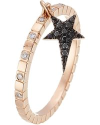 Diane Kordas - 18kt Rose Gold Ring With Diamonds - Lyst