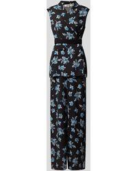 Diane von Furstenberg Jumpsuit mit Allover-Muster - Schwarz
