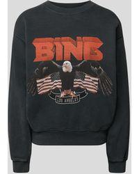 Anine Bing Sweatshirt mit Label-Print - Schwarz