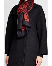 By Malene Birger Printed Wool Scarf - Red