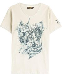 Rude Riders - American Eagle Printed Cotton T-shirt - Lyst