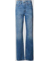Paco Rabanne Flared Leg High Waist Jeans - Blau
